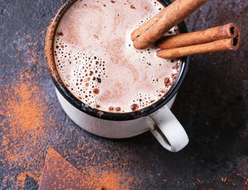 Boozy honey and almond hot chocolate